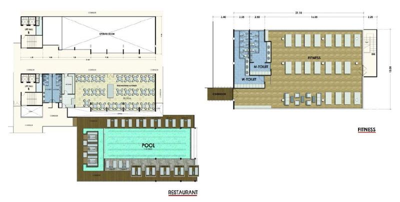 fitness studio floor plan submited images